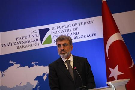 Turkey's Energy Minister Taner Yildiz attends a news conference with his Russian counterpart Alexander Novak in Istanbul December 2, 2012. REUTERS/Murad Sezer
