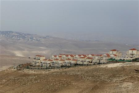 A view of the West Bank Jewish settlement of Maale Adumim (front) is seen near Jerusalem December 4, 2012. REUTERS/Ammar Awad