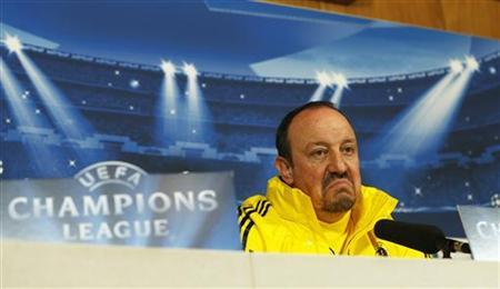 Chelsea's interim head coach Rafael Benitez reacts during a media conference at their training ground in Cobham, south of London December 4, 2012. REUTERS/Eddie Keogh