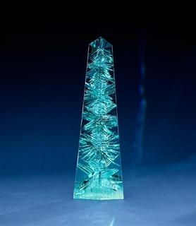 The National Museum of Natural History will permanently display the Dom Pedro Aquamarine, pictured, which is the largest single piece of cut-gem aquamarine in the world, beginning December 6, 2012. REUTERS/Donald E. Hurlbert, Smithsonian's National Museum of Natural History/Handout