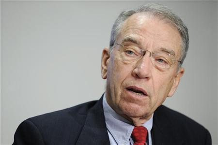 US Senator Charles Grassley (R-IA) answers questions during the 2009 Reuters Washington Summit in Washington, October 19, 2009. REUTERS/Jonathan Ernst