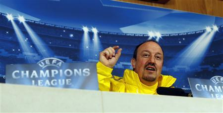 Chelsea's interim head coach Rafael Benitez gestures during a media conference at their training ground in Cobham, south of London December 4, 2012. REUTERS/Eddie Keogh