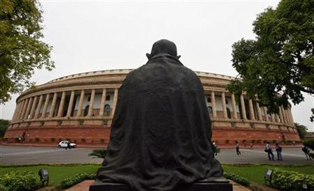 A view of the parliament building is seen in New Delhi July 21, 2008. REUTERS/B Mathur/Files
