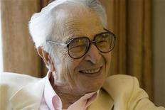 Dave Brubeck is interviewed by Reuters in Monterey, California, September 22, 2007. As golden years at home relaxing with his wife, with whom he just celebrated his 65th anniversary. REUTERS/Kimberly White