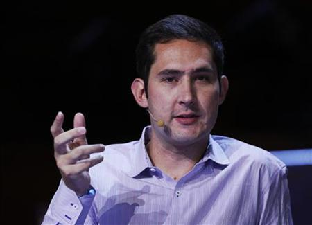 Instagram co-founder and CEO Kevin Systrom, speaks during a Q&A session at LeWeb 2012 in London June 19, 2012. REUTERS/Luke MacGregor/Files