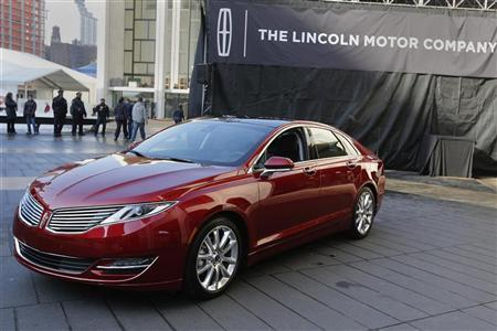 The Lincoln MKZ mid-size sedan is seen during a news conference in New York December 3, 2012. REUTERS/Shannon Stapleton