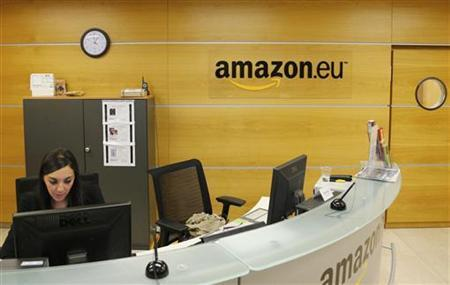 View of the reception of Amazon Europe Holding Technologies in Luxembourg in this picture taken on November 20, 2012. REUTERS/Francois Lenoir