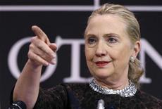Il segretario di Stato Usa Hillary Clinton. REUTERS/Francois Lenoir