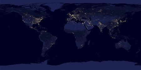Lights across the earth are pictured in this NASA handout satellite image obtained by Reuters December 5, 2012. This new image of the Earth at night is a composite assembled from data acquired by the Suomi National Polar-orbiting Partnership (Suomi NPP) satellite over nine days in April 2012 and thirteen days in October 2012. It took 312 orbits and 2.5 terabytes of data to get a clear shot of every parcel of Earth's land surface and islands. REUTERS/NASA/Handout.