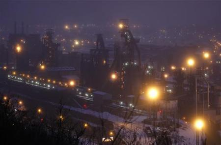 General view of the ArcelorMittal Florange-Hayange blast furnace in Hayange, Eastern France, December 3, 2012. REUTERS/Vincent Kessler