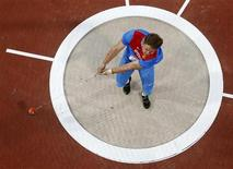 Russia's Kirill Ikonnikov competes in the men's hammer throw final during the London 2012 Olympic Games at the Olympic Stadium August 5, 2012. REUTERS/Fabrizio Bensch