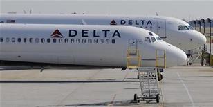 Delta Airlines anunciou que fechou a compra de até 70 jatos regionais da canadense Bombardier. 09/12/2011 REUTERS/Tami Chappell