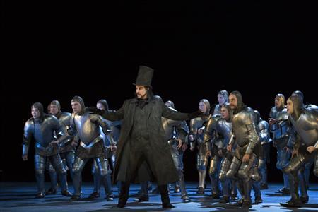 This undated handout photograph released by the Royal Opera House, shows Canadian bass-baritone John Relyea singing the role of Bertram in ROH's production of Giacomo Meyerbeer's rarely-performed grand opera Robert le Diable in London December 06, 2012. REUTERS/Handout/ROH/Bill Cooper