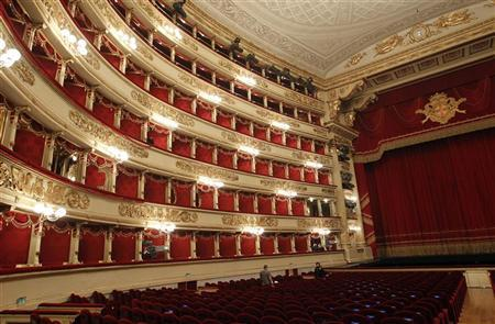 A general view is seen of La Scala opera house in Milan December 7, 2011. REUTERS/Alessandro Garofalo