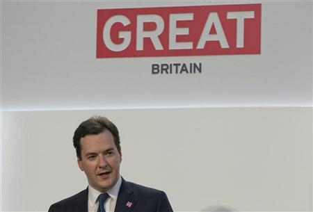 Chancellor George Osborne speaks at the Global Investment Conference 2012 in London July 26, 2012. REUTERS/Neil Hall