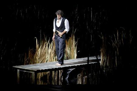 German tenor Jonas Kaufmann performs during a rehearsal at the La Scala opera theatre in Milan in this December 4, 2012 handout photo. REUTERS/Monika Rittershaus/La Scala press office/Handout