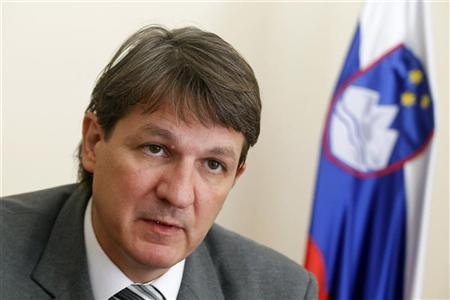 Slovenia's Finance Minister Janez Sustersic speaks during an interview in Ljubljana, August 28, 2012. REUTERS/Srdjan Zivulovic