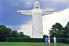 The Christ of the Ozarks statue is seen in Eureka Springs, Arkansas, in this undated handout photo courtesy of the Arkansas Department of Parks and Tourism. REUTERS/Arkansas Department of Parks and Tourism/Handout