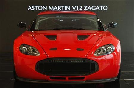 An Aston Martin V12 Zagato is displayed inside a dealership in central Beijing November 29, 2011. REUTERS/Soo Hoo Zheyang