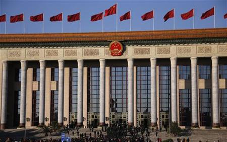 A general view shows that delegates enter the Great Hall of the People, the venue of the 18th National Congress of the Communist Party of China, in Beijing, November 14, 2012. REUTERS/Petar Kujundzic