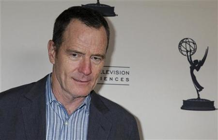 Actor Bryan Cranston, nominated for outstanding lead actor in a drama series for his role in ''Breaking Bad'' poses at the Academy of Television Arts and Sciences' Performers Peer Group cocktail reception for 64th Primetime Emmy Award nominees in Los Angeles August 20, 2012. REUTERS/Fred Prouser