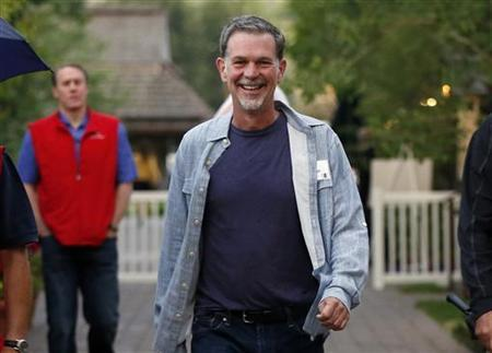 Chief Executive of Netflix Reed Hastings attends the Allen & Co Media Conference in Sun Valley, Idaho July 11, 2012. REUTERS/Jim Urquhart/Files