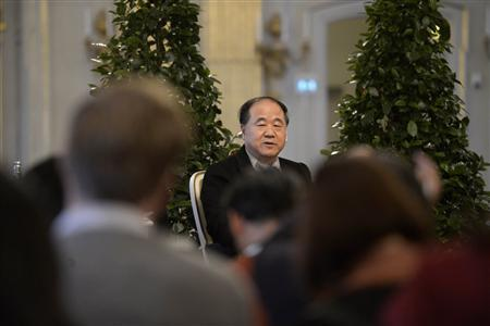 Mo Yan, the Chinese winner of the 2012 Nobel Prize in Literature, speaks during a news conference at the Royal Swedish Academy in Stockholm December 6, 2012. REUTERS/Janerik Henriksson/Scanpix