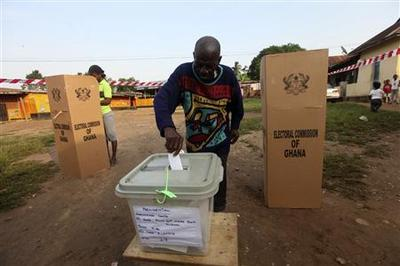 Ghana's voters optimistic in new democracy test