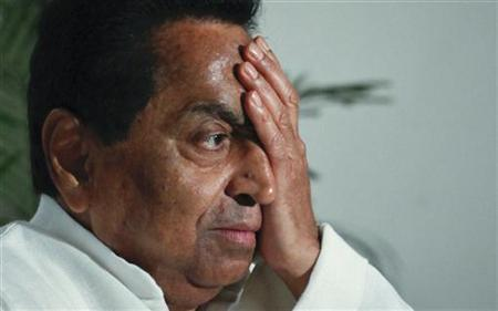 Kamal Nath reacts to a question during an interview with Reuters in New Delhi June 17, 2011. REUTERS/Adnan Abidi/Files