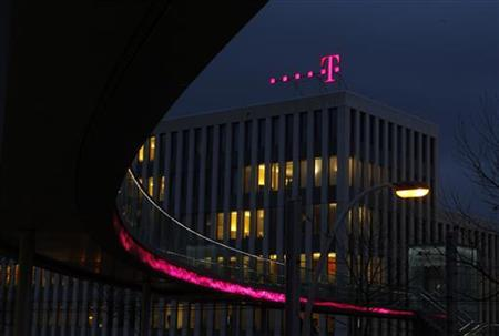 The headquarters of Deutsche Telekom AG in Bonn December 5, 2012. After keeping up its dividend when all around it were cutting theirs, Deutsche Telekom is expected to join the throng of European telcos diverting cash from shareholder payouts to capital investment. REUTERS/Ina Fassbender (GERMANY - Tags: BUSINESS TELECOMS)