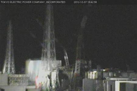 Tokyo Electric Power Co. (TEPCO)'s surveillance camera image showing tsunami-crippled Fukushima Daiichi nuclear power plant in Fukushima December 7, 2012, following a tsunami warning after an earthquake jolted northeastern and eastern Japan. REUTERS/Tokyo Electric Power Co/Handout