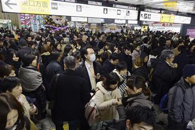 Strong quake hits off Japan near Fukushima