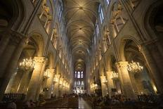 Inside view of Notre-Dame de Paris Cathedral in Paris October 18, 2012. REUTERS/Charles Platiau