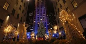 The tree is seen during the 80th Annual Rockefeller Center Christmas Tree Lighting Ceremony in New York, November 28, 2012. REUTERS/Carlo Allegri