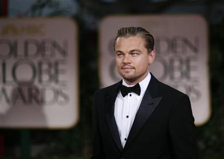 Actor Leonardo DiCaprio arrives at the 69th annual Golden Globe Awards in Beverly Hills, California January 15, 2012. REUTERS/Mario Anzuoni