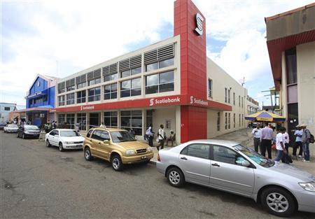 A Scotiabank branch is seen in Castries, St Lucia May 11, 2010. REUTERS/Andrea De Silva