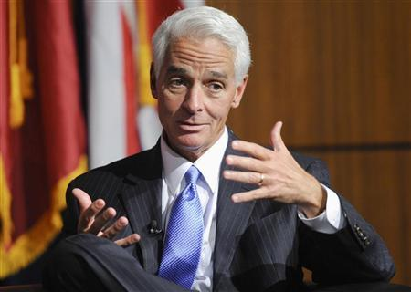Former Governor of Florida Charlie Crist answers a question during the University of Southern California's Schwarzenegger Institute for State and Global Policy inaugural Symposium in Los Angeles, California, September 24, 2012. REUTERS/Gus Ruelas