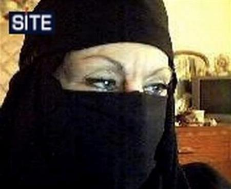 Colleen LaRose, a Pennsylvania woman who named herself 'Jihad Jane,' is shown in an undated video grab released by the Site Intelligence Group on March 10, 2010. REUTERS/Site Intelligence Group/Handout/Files