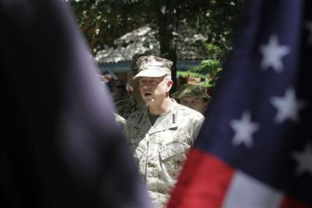 John Allen attends U.S. Independence Day celebrations in Kabul July 4, 2012. REUTERS/Mohammad Ismail/Files
