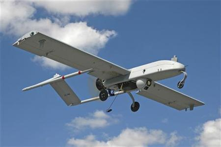 An unarmed U.S. ''Shadow'' drone is pictured in flight in this undated photograph, released on January 5, 2011. REUTERS/AAI Corporation/Handout/Files