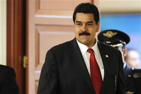 Venezuela's Vice President Nicolas Maduro arrives at the summit of the Union of South American Nations (UNASUR) in Lima, November 30, 2012. REUTERS/Enrique Castro-Mendivil