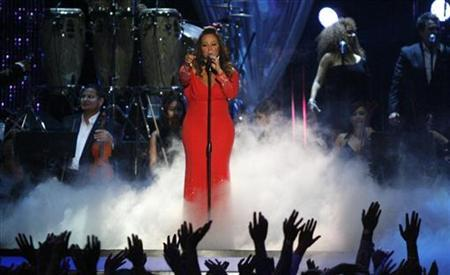 Mexican-American singer Jenni Rivera performs during the 2012 Billboard Latin Music Awards in Coral Gables, Florida April 26, 2012. REUTERS/Andrew Innerarity