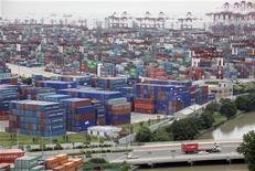 A general view of a container port in Shanghai June 24, 2009. REUTERS/Aly Song
