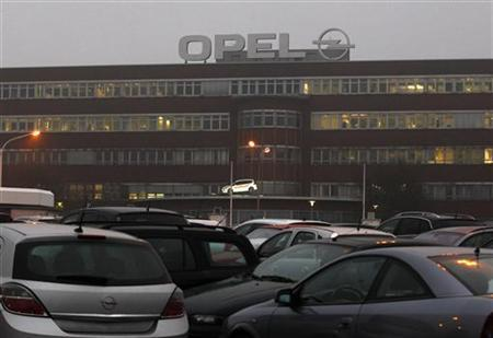 General view of the Opel plant of Bochum early morning October 24, 2012. REUTERS/Ina Fassbender/Files