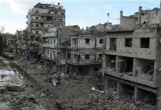 Economia da Síria deve encolher 20 por cento em 2012 devido à guerra civil que assola o país. 08/12/2012 REUTERS/ Yazan Homsy