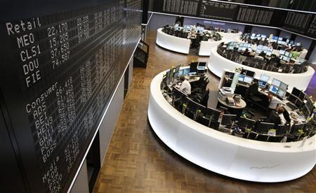 A general view of the German stock exchange in Frankfurt November 7, 2012. REUTERS/Lisi Niesner