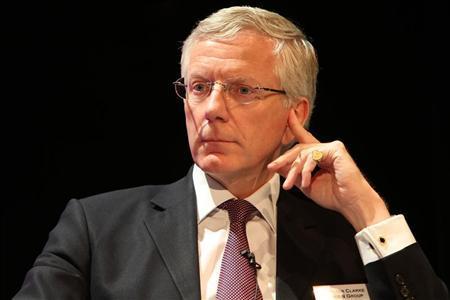 Peter Clarke, CEO of Man Group PLC, attends the GAIM International (Global Alternative Investment Management) hedge fund conference in Monaco, June 15, 2010. REUTERS/Sebastien Nogier