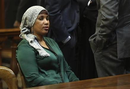 Hotel maid Nafissatou Diallo appears in New York State Supreme Court for a hearing where a settlement in her civil lawsuit against former International Monetary Fund chief Dominique Strauss-Kahn was expected to be announced, in the Bronx, New York December 10, 2012. REUTERS/Seth Wenig/Pool