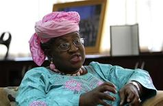 Nigeria's Finance Minister Ngozi Okonjo-Iweala speaks during an interview with Reuters in her office in the capital Abuja August 24, 2012. REUTERS/Afolabi Sotunde