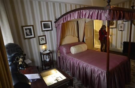 A visitor views the Mary Hogarth room of the Charles Dickens Museum in central London December 10, 2012. REUTERS/Toby Melville